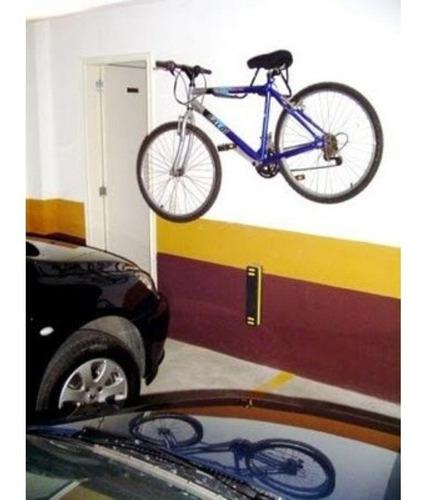 suporte parede bicicleta 2 bikes pendurar anel para trava