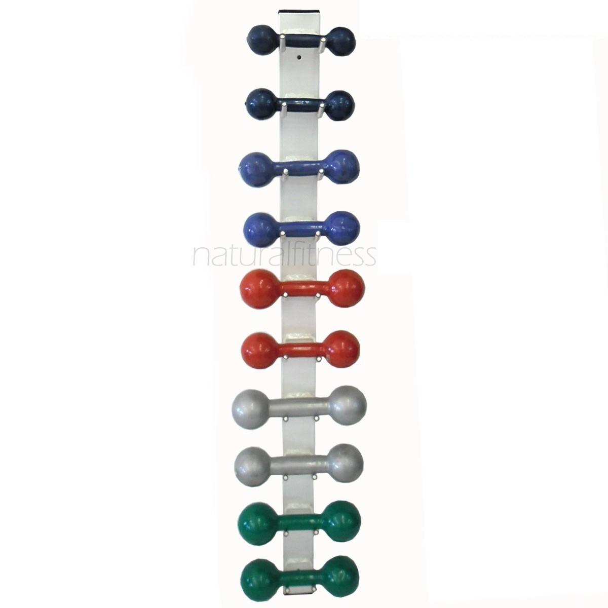 suporte parede kit pesos 5 pares halter de 1 a 5 kg r 337 00 em mercado livre. Black Bedroom Furniture Sets. Home Design Ideas