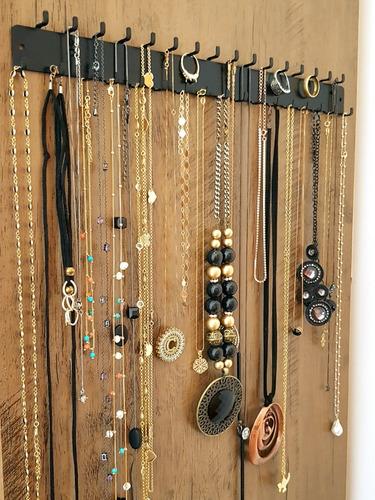 suporte parede organizador anéis colares pulseiras bijuteria