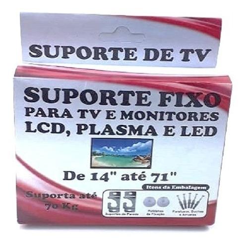 suporte parede tv led lcd até 71 pol monitor plasma cx