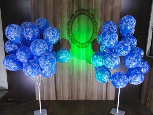 suporte p/balão bexiga kit c/2 pç de 20 balão frete gratis