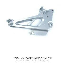 suporte pedaleira cbx200 traseiro esquerdo