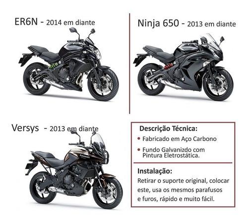 suporte placa eliminador articulado er-6n, versys ninja 650