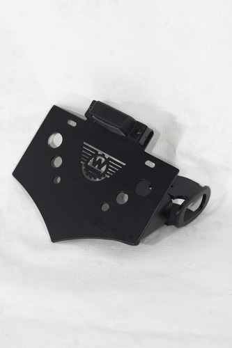 suporte placa lateral harley davidson breakout preto wings