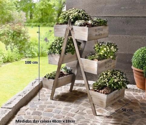 Suporte plantas floreira prateleira estante arm rio for Estantes para plantas exteriores