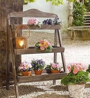 suporte plantas floreira prateleira estante escada madeira r 279 90 em mercado livre. Black Bedroom Furniture Sets. Home Design Ideas