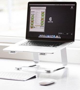 suporte plataforma elevator para notebook djs estilo griffin