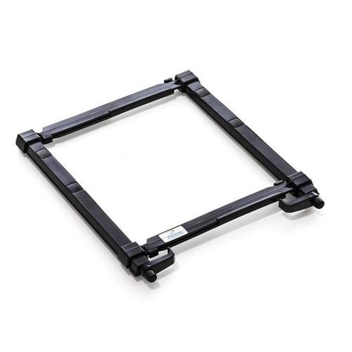 suporte p/notebook plástico regulável preto reliza