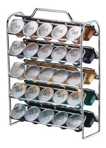 suporte porta 50 cápsulas cafe nespresso bancada cappuccino