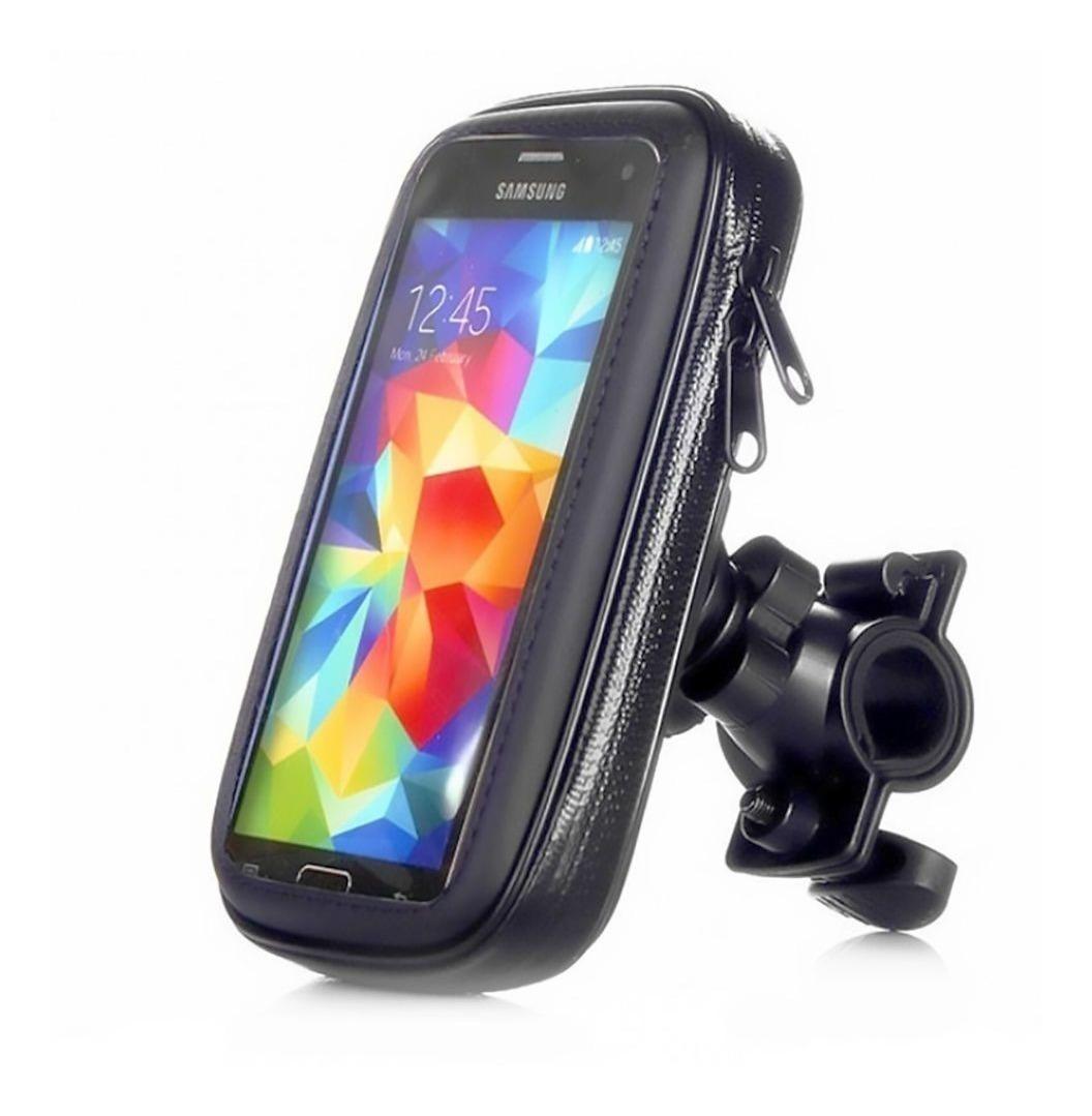 6589989482e suporte porta celular gps 6 guidão bike moto iphone samsung. Carregando  zoom.