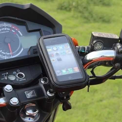 5ee1587a180 Suporte Porta Celular Gps Guidão Bike Moto iPhone Samsung - R$ 35,00 em  Mercado Livre