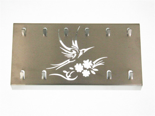 suporte porta chaves de parede inox escovado - beija flor