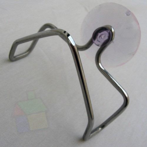 suporte porta esponja para pia com ventosa aço inox