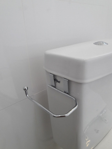 suporte porta papel higiênico caixa de descarga acoplada