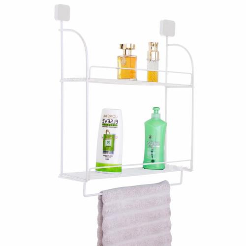 suporte porta shampoo sabonete para banheiro duplo parede