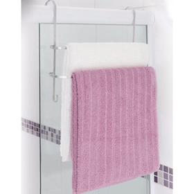 Suporte Porta Toalhas Duplo Em Aço Toalheiro Box De Banheiro