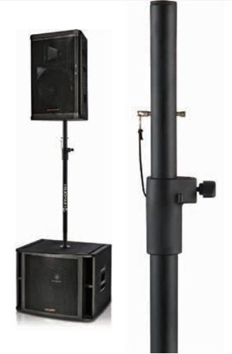suporte prolongador c/ ajuste p/ caixa de som sub grave s90