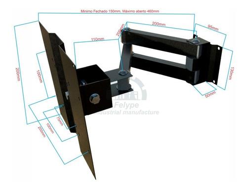 suporte p/tv tri-articulado lcd led plasma 20 a 43 promoção