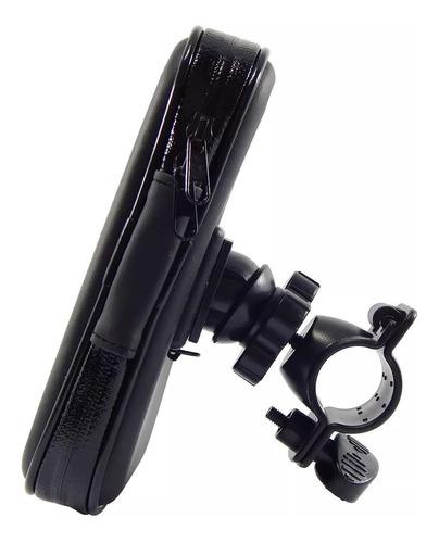 suporte resistente água p/moto celular gps até 6,5 pol.