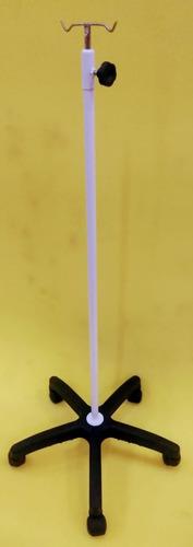 suporte soro epóxi base termoplástica 5 pés c/ rodízios