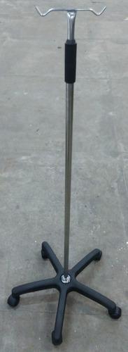suporte soro inox base termoplástica 5 pés c/ rodízios