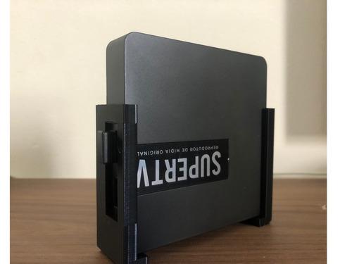 suporte supertv red/black/blue + porta controle - entrega
