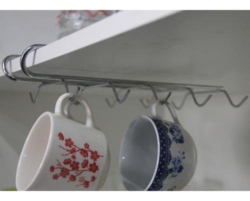 suporte suspenso organizador xícaras aramado aço cromado encaixar prático sem furos encaixe prateleira porta nota fiscal