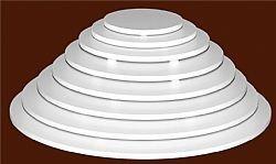 suporte tábua redonda 30cm para bolo em polietileno com pés