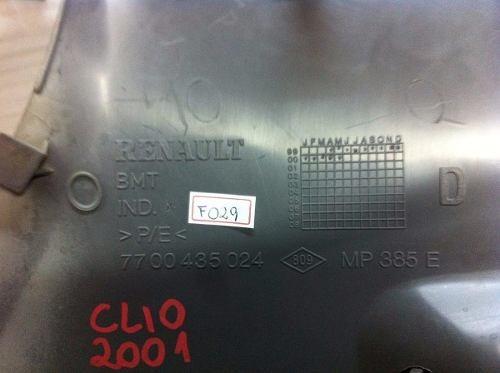 suporte tampão bagagito direito clio hatch 4 portas 2000/