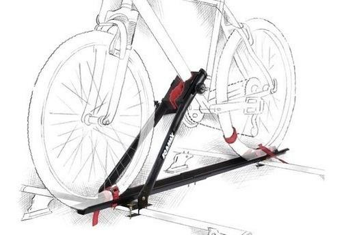 suporte teto bicicleta calha transbike eqmax aço preto