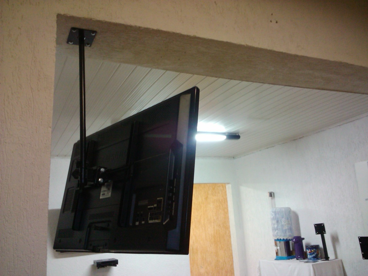 Suporte teto tv lcd led 3d quadri articulado 26 40 49 55 - Soporte articulado tv ...