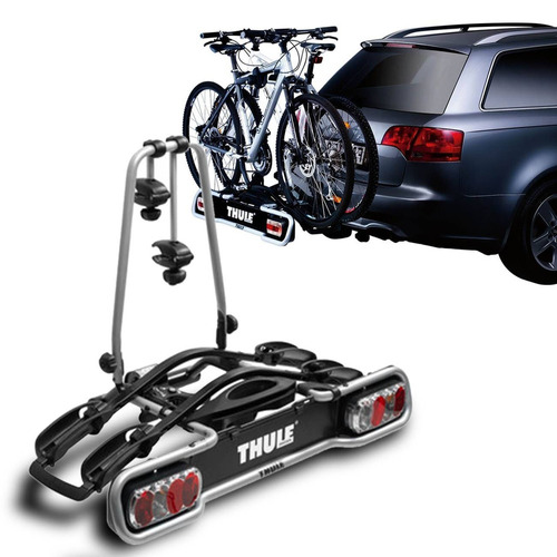 suporte transbike para engate thule euroride cinza 2 bikes