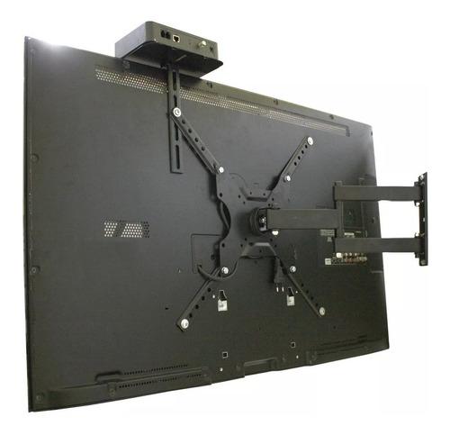 suporte tv articulado de 32 40 42 50 55 lcd led + prateleira