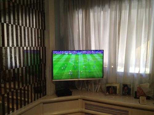 suporte tv bi-articulado de 14 a 55 pol led plasma lcd