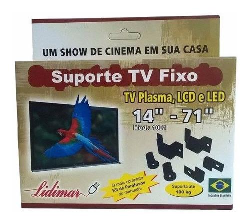 suporte tv fixo smart tv lcd led universal até 70 polegadas