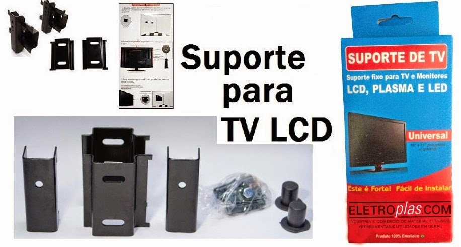 Suporte Tv Fixo Universal Led Monitor - De 10 A 71 Polegadas - R ...