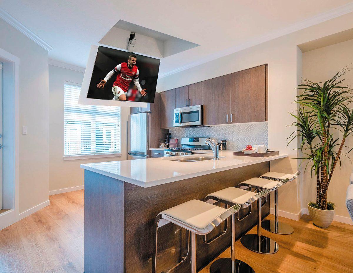 suporte tv motorizado para teto 32 novidade no brasil r em mercado livre. Black Bedroom Furniture Sets. Home Design Ideas