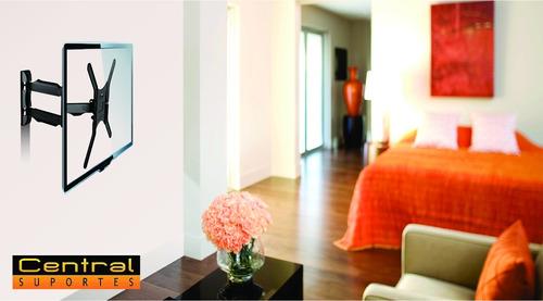 suporte tv painel parede articulado 26 a 55 a02v4n elg a02v4