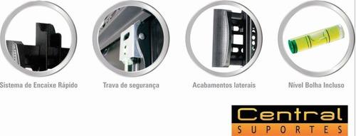 suporte tv  parede 32 a 65 fixo n01v4 elg led oled curva