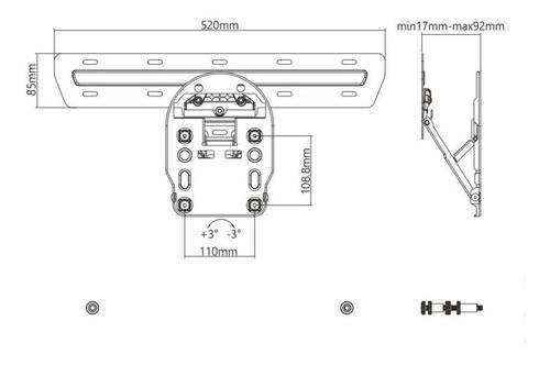 suporte tv qled 49 - 55 - 65 q7 q8 q9 nogap microgap led-13q