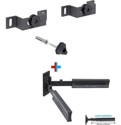 suporte tv universal 14 a 84 plug combo kit multivisão