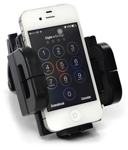 suporte universal bike motos gps celular iphone galaxy s4 s