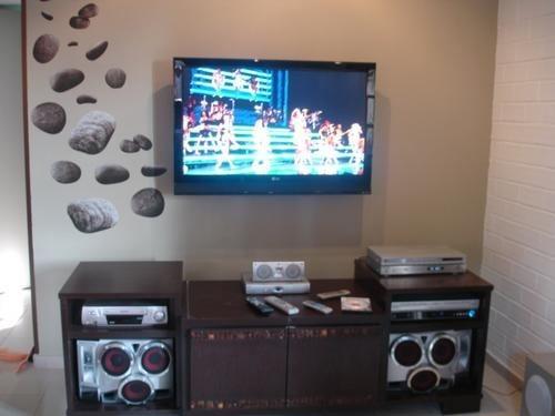 Fotos De Sala Com Tv Lcd Na Parede ~ Suporte Universal Fixo Painel Parede Tv Lcd Plasma Led  R$ 39,90 em