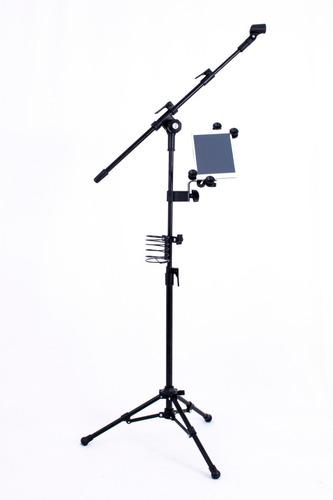 suporte universal regulável p/tablet pedestal de microfone-s