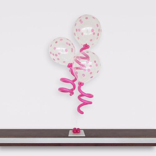 suporte varetas balão bexigas p imitam gás helio kit 1 base