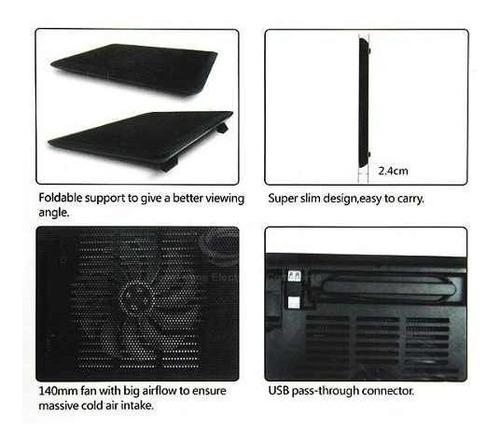 suporte ventilado com led para notebook dell inclinável