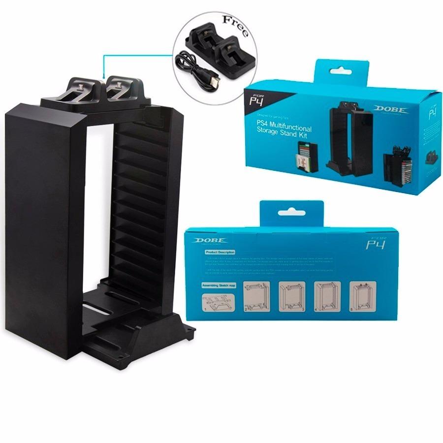 Suporte Vertical Ps4 Stand 12 Dvds R 10399 Em Mercado Livre Multifunctional Storage Kit Carregando Zoom