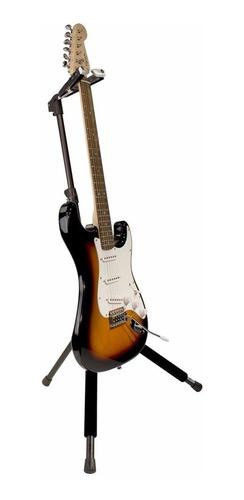 suporte,apoio c/ auto-trava p/ guitarra,acabamento em veludo