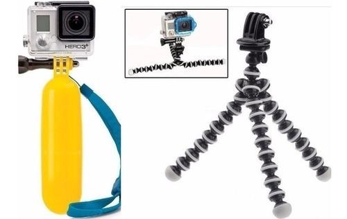 suportes para gopro bastão flutuante mini tripé gorilapod