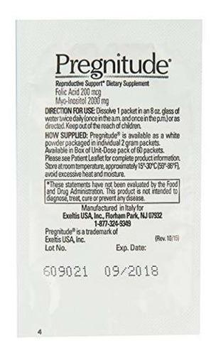 support pregnitude reproductive 60 prenatal packets